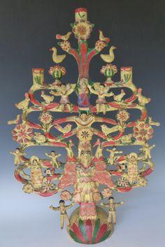 Fabulous vintage tree of life by Aurelio Flores of Izucar de Matamoros, Puebla.  Stunning!