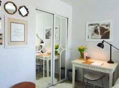 s 13 amazing closet door transformations that will change your room, These mirror trimmed bedroom sliding doors