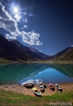 Lake Saif ul Muluk is one of the clearest, unpolluted and beautiful lakes. It is located in northern Pakistan.