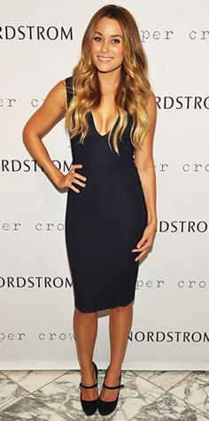 Look of the Day › September 10, 2011 WHAT SHE WORE Conrad signed copies of Style at Nordstrom in a plunging little navy dress from her own Paper Crown line
