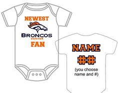 Newest Denver Broncos Fan Custom Made and Personalized Football Gerber  Onesie You Choose Name Number - 6cda510a2