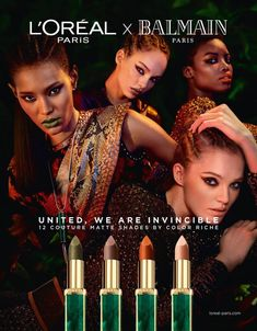 L'Oreal Paris & Balmain Up the Chic Factor With New Lipstick Collab Models Makeup, Makeup Brands, Graham, Luma Grothe, Balmain Collection, Campaign Fashion, Beauty Companies, Balmain Paris, Latest Fashion Design