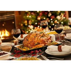 Roundup Top Picks For Christmas Eve And Christmas Day Dinners In The... ❤ liked on Polyvore featuring home and kitchen & dining