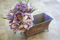 Lilac and Margarita Wedding Bouquet - Shabby Chic Cottage / Chic Bridal Bouquet