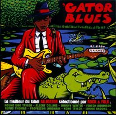 Gator Blues , cover by Thierry Guitard(comic artist, illustrator, graphic designer,.... from France)