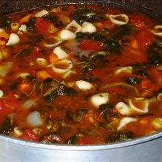Tomato Florentine Soup With Pasta Recipe