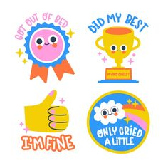 手绘有趣的贴纸收藏免费矢量 | Free Vector #Freepik #freevector #design #hand #sticker #hand-drawn Kawaii Stickers, Kids Stickers, Funny Stickers, Illustrations Vintage, Vector Illustrations, Posca Art, Halloween Labels, Halloween Kids, Retro Logos
