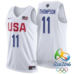 317a5033b7a Klay Thompson USA Dream Twelve Team #11 2016 Rio Olympics White Jersey,  Price: $68.00 - Stephen Curry Shoes Under Armour Store Online