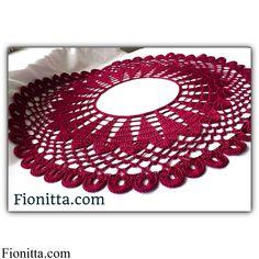 Crochet collare cherry |