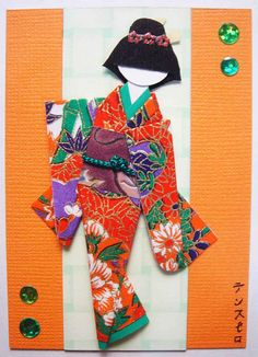 Japanese Paper Doll for 1500 free paper dolls, go to my website Arielle Gabriel's The International Paper Doll Society...