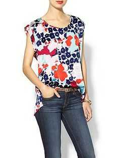Daniel Rainn Floral Print Blouse | Piperlime - This would be cute for work with my navy pencil skirt.
