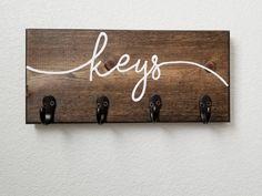 Keys Hook Housewarming Gift Keys Rack Keys Hanger Key holder for Wall Hooks for wall Hooks Rack Hooks for Keys Entryway Organizer Do It Yourself Organization, Entryway Organization, Wall Key Holder, Key Holders, Diy Key Holder, Wooden Key Holder, Key Hooks, Key Hook Diy, Wall Hooks