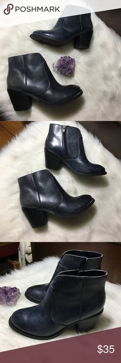 Seychelles leather booties In great condition! 3inch heel. Soft genuine leather. Side Zipper. Seychelles Shoes Ankle Boots & Booties