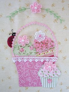 """BLOCK 8 - August """"A Tisket A Tasket"""" Bunny Hill Block of the Month 