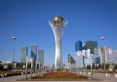 https://flic.kr/p/9teVuj | The Baiterek Tower is Astana - Kazakhstan | Aperturef/7.1 Focal Length45 mm ISO Speed100 The Baiterek Tower is Astana symbol. The height is 105 meters. At 97 meters there is an observation deck providing a bird's eye view of the city. 97 symbolies the year of moving the capital from Almaty to Astana. The Baiterek Tower accommodates an art gallery, a large aquarium and a restaurant. It was closed for renovation when i was there. Founded by Siberian Cossacks in…