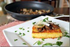 polenta w/ mushroom ragu