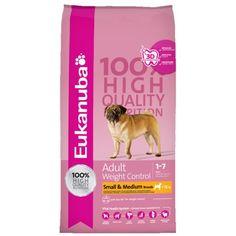 Eukanuba Adult Weight Control Small & Medium Breed, é o alimento indicado para cães de raças pequenas e/ou medianas (< 25 kg), com tendência para ter excesso de peso. Contém menos 40% de gordura, quando comparado com Eukanuba Adulto Raça Mediana, assim como ingredientes de alta qualidade necessários para a saúde e bem-estar do seu cão adulto.