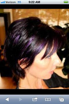 Purple low lights