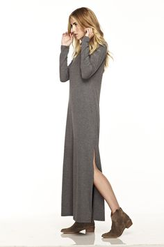 Sew up that split and that would be a GREAT and totally comfy dress.