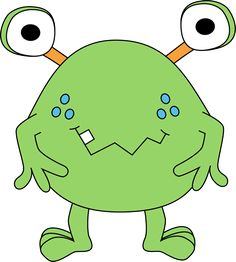 free cute monster clip art | Two-Eyed Green Monster Clip Art Image - green monster with two eyes ...
