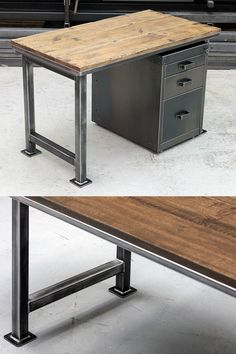 The Artisan Office Desk - Traditional vintage industrial design perfect for office or home use