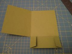 DIY invitation pocketfolds - use purple colored paper for this!