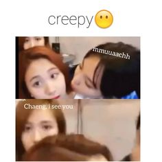 Mina vs nayeon  chaeyong be like : not today my gf is behind us . . #michaeng #minajyp #chaeyoungjyp #twice #nayeon#jeongyeon #momo #sana #jihyo #mina #dahyun #chaeyeong #tzuyu #knockknock #l4l #kpopf4f #jypentertainment