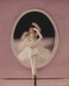 Little Ballerina - A Girl's Vintage Jewelry Box Twirling Ballerina by Tamara Lee