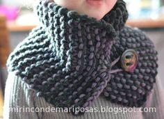 Un proyecto muy sencillo, para principiantes como yo con las agujas.Se teje en un ratito y el resultado me encanta.   Este es talla... Diy Crochet And Knitting, Tunisian Crochet, Baby Knitting, Crochet Baby, Short Scarves, Knitting Patterns, Crochet Patterns, Knitted Shawls, Knitwear
