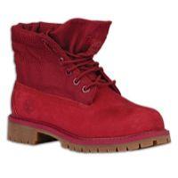 Timberland Roll Top Boots - Boys' Preschool - Red / Tan