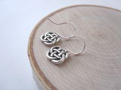 Silver Celtic Earrings Celtic Knot Earrings by SongYeeDesigns, $16.00