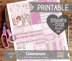 Communion Weekly Printable Planner Stickers Erin Condren