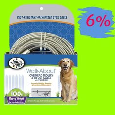 30Ft Aerial Line Trolley Dog up 125P Heavy Large Runner Tie Out Cable Pet Large