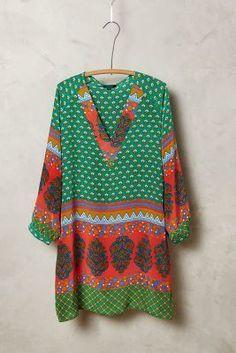 Tolani Colva Silk Tunic #anthrofave