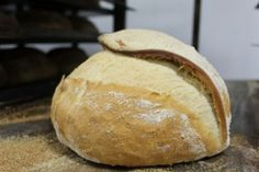 The tabatiere, or tobacco pouch loaf, fresh out of the Hobbs House bakery oven.