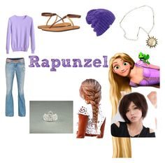 """""""Rapunzel Closet Cosplay"""" by thecrystalheart on Polyvore featuring True Religion, Reef, Coal and Clair Beauty"""