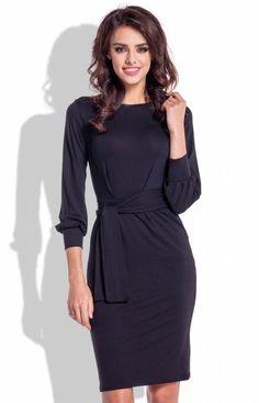 Fobya F334 sukienka czarna Elegancka sukienka, ołówkowy fason, rękaw 7/8 lekko bufiasty Peplum Dress, Dresses For Work, Fashion, Moda, Fashion Styles, Peplum Dresses, Fasion, Peplum Outfit