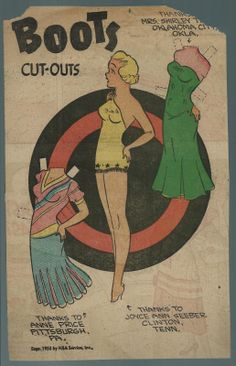 6-7-53 Boots paper doll / eBay