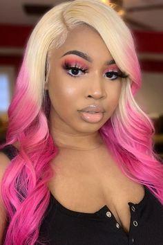 ✨🎀 Barbie Energy 🎀✨ @slaybyciara in Virgin Pink #AFvirginpink Hair Color Pink, Cool Hair Color, Pink Hair, Baddie Hairstyles, Trendy Hairstyles, Summer Hairstyles, Colored Weave Hairstyles, New Year Hairstyle, Arctic Fox Hair Color