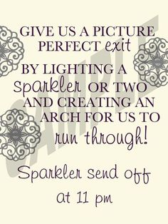 #NEW! #Wedding Sparkler Send Off Sign by ...