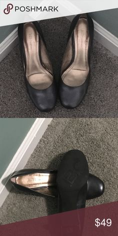 BCBG Dark Grey Heels Size 8 BCBG Dark Grey Heels Size 8. Worn once. BCBG Shoes Heels