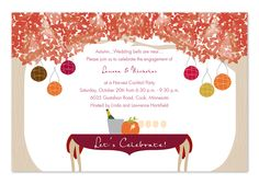 Autumn Backyard - Party Invitations by Invitation Consultants.