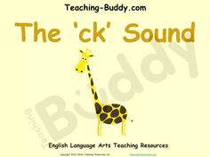 The ck Sound teaching resource - PowerPoint and worksheets