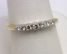 14k two-tone diamond wedding band benchmarkgembrokers.com