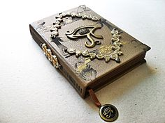 Book of Shadows Wicca, Cthulhu, Steampunk Book, Magic Book, Leather Books, Handmade Books, Leather Journal, Journal Covers, Book Binding