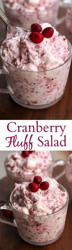 Could You Eat Pizza With Sort Two Diabetic Issues? Cranberry Fluff Salad Is An Easy Holiday Side Dish That's Always A Crowd Favorite It's Creamy, Sweet And Delicious Tastes Better From Scratch Dessert Salads, Dessert Recipes, Fruit Salads, Jello Salads, Fruit Food, Apple Desserts, Fall Recipes, Holiday Recipes, Cranberry Recipes Easy