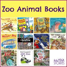 Zoo Animals Books for Children plus zoo animal yoga poses for kids ~ Kids Yoga Stories