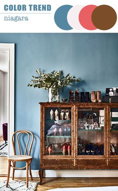 On the hunt for that perfect mid-tone blue? This roundup of our favorite Scandinavian Blue Paint Colors will help point you in the right direction! walls 10 Perfect Scandinavian Blue Paint Colors for Your Home Swedish Interiors, Scandinavian Interior, Home Interior, Scandinavian Living, Scandinavian Apartment, Interior Paint, Elle Decor, Bohemian Chic Home, Bohemian Interior