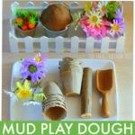 Mud Play Dough and Flowers: an Invitation to Play