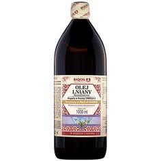 Olej lniany marki Laboratorium Biooil - tłoczony na zimno, nierafinowany, nieoczyszczony. Wine, Drinks, Bottle, Food, Drinking, Beverages, Flask, Essen, Drink